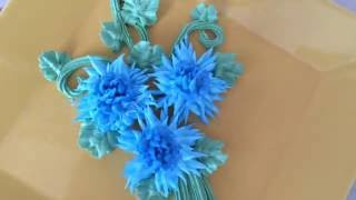 How to make centaurea flower / Как сделать васильки из крема