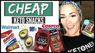✅CHEAP WALMART COSTCO .99 CENT STORE KETO SNACK HAUL ● CHEAP KETO MEALS ● QUICK HEALTHY KETO SNACKS