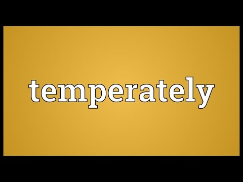 Header of temperately