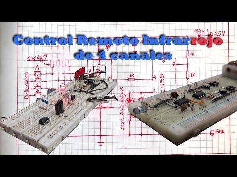 CONTROL REMOTO INFRARROJO DE 4 CANALES