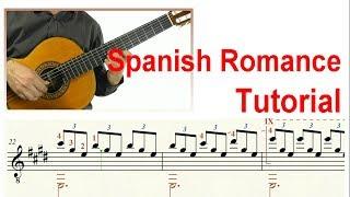 ♫♫ Spanish Romance  - Guitar Tutorial (Score & TAB)