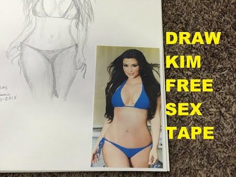 Kim Kardashian Time Lapse Drawing Pencil Art Bikini Free Sex Tape Porn Star video