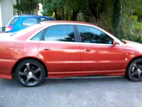 orange 1996 audi a4 2.8 custom exhaust n reiger kit