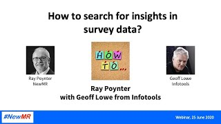 How to search for insights in survey data - Main Presentation
