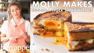 Molly Makes Egg-in-a-Hole Sandwich with Bacon and Cheddar | From the Test Kitchen | Bon Appétit