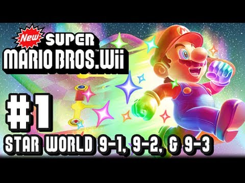 New Super Mario Bros Wii - Star World - Part 1 - World 9-1, 9-2, & 9-3
