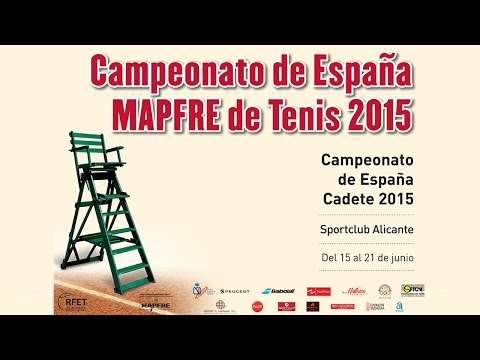 Finales Campeonato de España de Tenis Cadete 2015