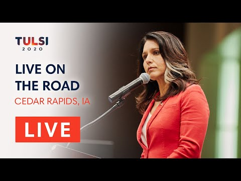 Tulsi Gabbard LIVE on the road - Linn County Democrats Hall of Fame Dinner - Cedar Rapids, IA