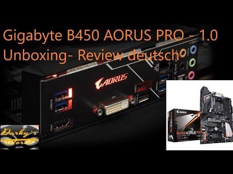 Gigabyte B450 AORUS Pro AM4 1.0 RGB Mainboard Unboxing  Review deutsch