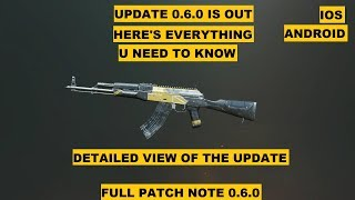 PUBG MOBILE UPDATE 0.6.0 WHATS NEW, EVERYTHING U NEED TO KNOW
