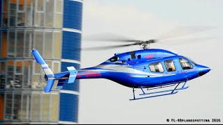 Great Looking Bell 429 Landing & Takeoff at London-Barclays Heliport