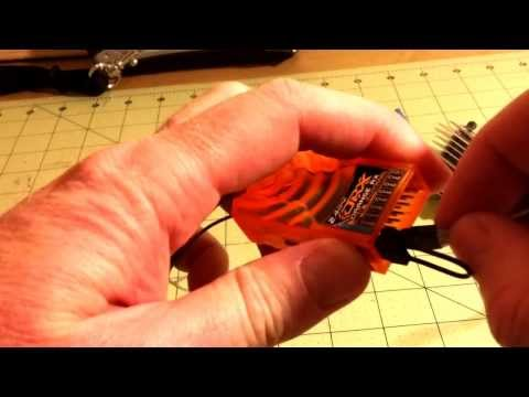 Bind a Hobby King OrangeRX RX800 8Ch DSMX receiver to a Spektrum DX8 radio