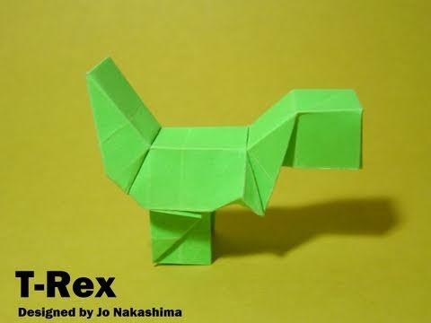 Easy t Rex Origami Origami Block T-rex Yoshi