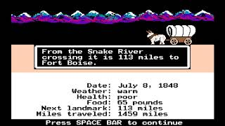The Oregon Trail Speedrun
