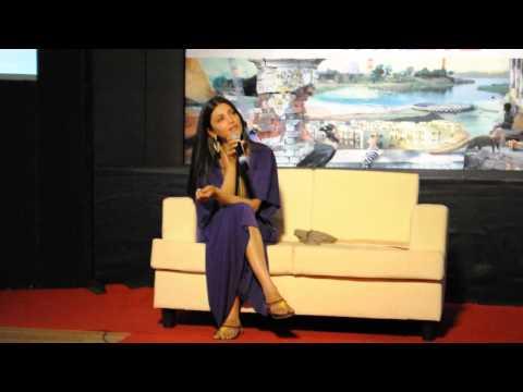 Shruti Haasan singing at the Ink Live Conference
