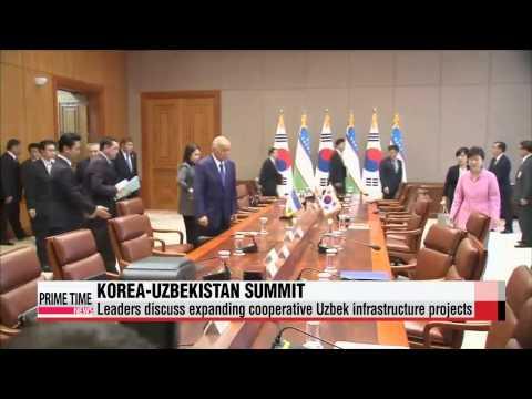 Leaders of Korea, Uzbekistan discuss cooperation in infrastructure, trade, healt