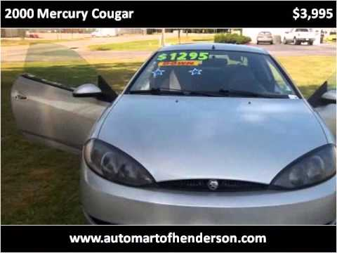 2000 Mercury Cougar Used Cars Henderson NC