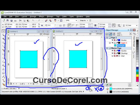 Detalles Sobre el Color en Corel Draw X5 Curso Video Tutori