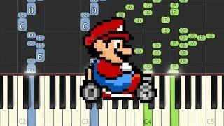 Super Mario Kart - Koopa Troopa Beach (SNES) - Recorded by alexsteb [Piano Tutorial] // Synthesia