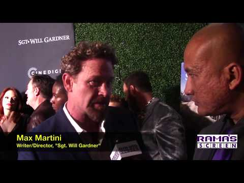 My Interview With Writer/Director/Actor Max Martini At 'SGT. WILL GARDNER' Premiere