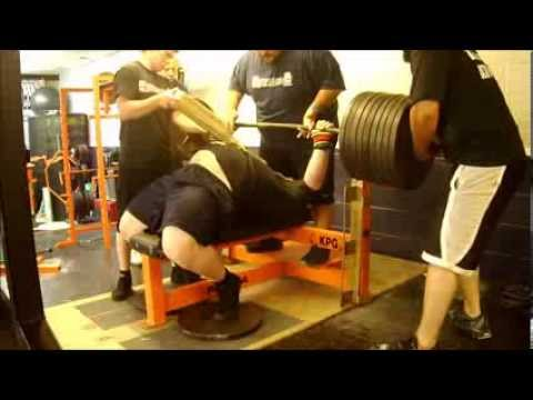 Henry Thomason Powerlifting Bench Press Training 9/07/13 - 3w USPA Mr. Olympia Image 1