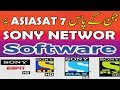 sony network new software | Asiasat7 | 1506G Receivers 2018