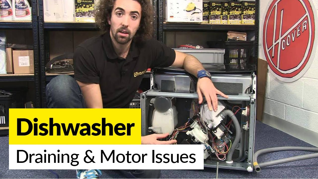 how to diagnose draining and motor problems in a dishwasher youtube. Black Bedroom Furniture Sets. Home Design Ideas