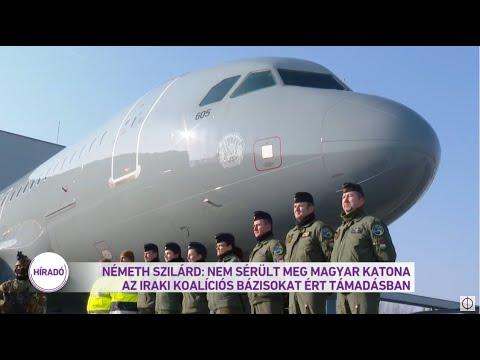 Németh Szilárd: Nem sérült meg magyar katona az iraki bázisokat ért támadásban