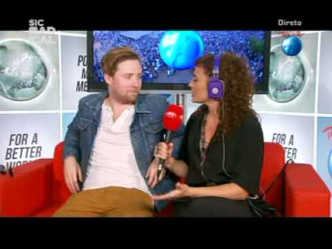 Kaiser Chiefs - Interview with Ricky Wilson - Rock in Rio Lisboa 2012 June 3rd