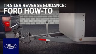 Setting Up Trailer Reverse Guidance   Ford How-To   Ford