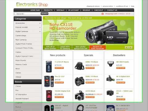 0 Electronics Store eCommerce template