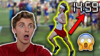 REACTING TO MY HIGH SCHOOL CROSS COUNTRY RACES (14:59 5K + MORE)