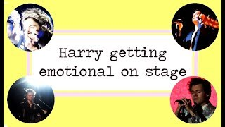 Harry Styles getting emotional on stage