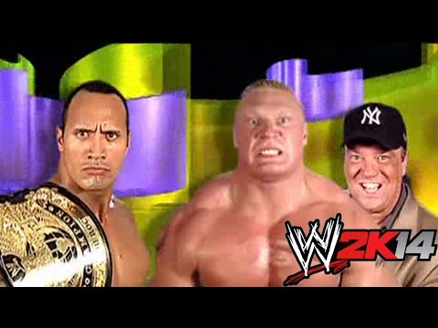 The Rock vs. Brock Lesnar - WWE 2K14 Relives SummerSlam History