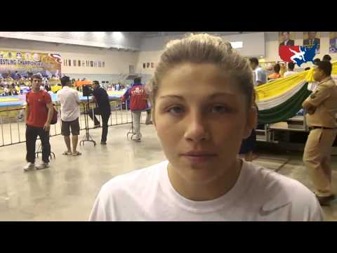 Jenna Burkert after the 2012 Junior World Championships