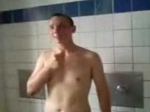 Sexy white guys taking a shower together second part