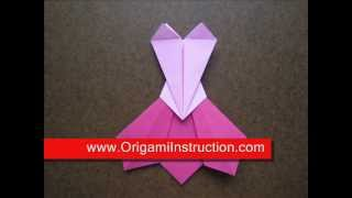How To Fold Origami Prom Dress - Origamiinstruction.com