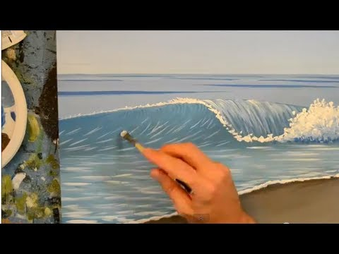 How to paint a wave using acrylics youtube for How to acrylic paint