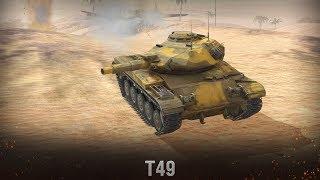 Качаю новые лёгкие танки США {T49} [WoT BlitZ]