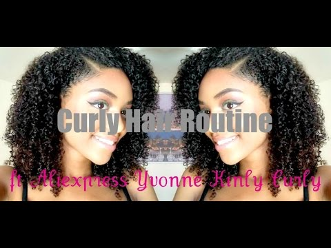 Curly Hair Routine|Aliexpress Yvonna Kinky Curly