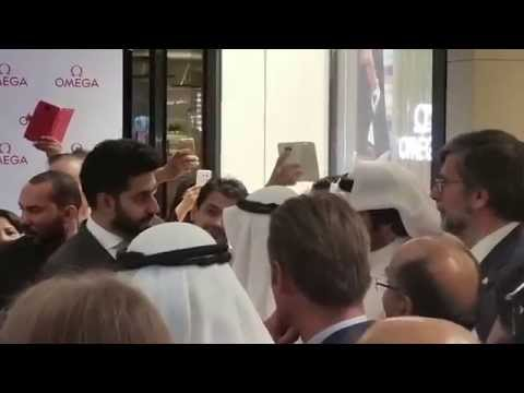 Abhishek Bachchan in Kuwait for Omega