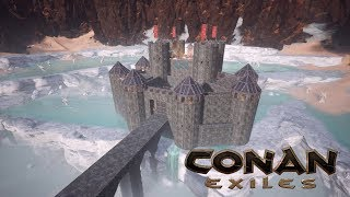 Conan Exiles - Dragon Bridge Castle (Speed Build)
