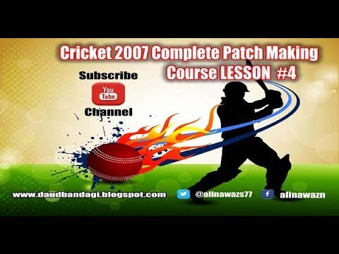 EA Cricket 07 Patch Making Tutorial#4│How to Add And Remove Teams In Australian Cricket Tournaments