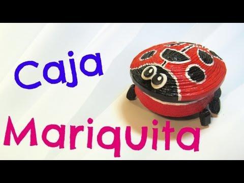 Como hacer una caja de Mariquita. Ladybug box.