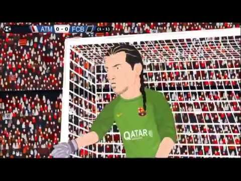 Atlético Madrid 1-0 FC Barcelona Champions League 10/4/14 Parodia
