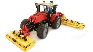 Lego Massey Ferguson tractor with butterfly grass mower
