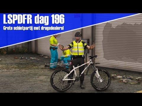 GTA 5 lspdfr dag 196 - Grote schietpartij met drugsdealers! - Op pad met de fiets!