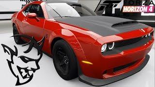 Forza Horizon 4 - Dodge Demon - Customization, Top Speed, Review