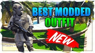 GTA 5 ONLINE GLITCHES - *NEW* CREATE DOPE MODDED COMBAT OUTFIT! OUTFIT TRANSFER GLITCH 1.46!