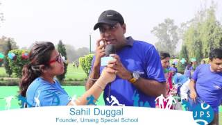 Sahil Duggal, Founder Umang Special School at Tarey 2016 Run 4 Cause